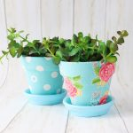 Fabric Plant Pots with Mod Podge Ultra