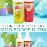 Did you know that there is now a Mod Podge spray? Here is your guide to using Mod Podge Ultra on all your craft projects! #plaidcrafts #modpodge #decoupage #crafts #diy