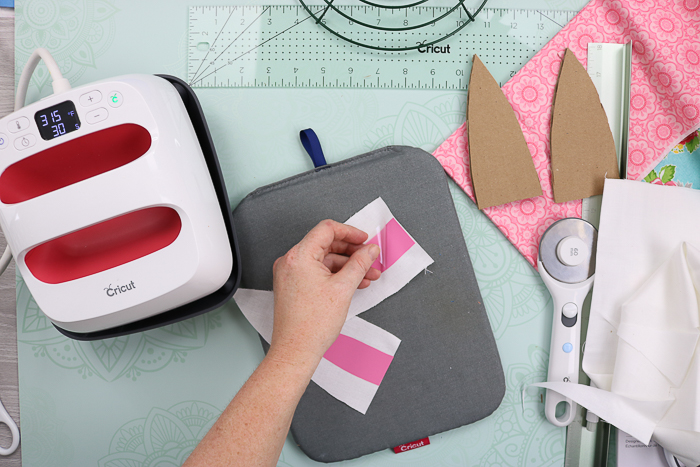 Removing liner from Cricut iron-on