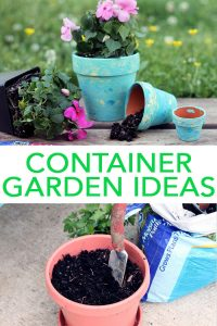 Try these container garden ideas around your home! From planters to soil and decorations as well, we have everything you need to start your own! #garden #gardening #plants