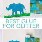 Learn all about what is the best glue for glitter as well as how to use the new Mod Podge Ultra! #plaidcrafts #modpodge #glitter
