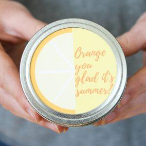 orange bath salts recipe in a mason jar