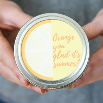 orange bath salts recipe in a mason jar