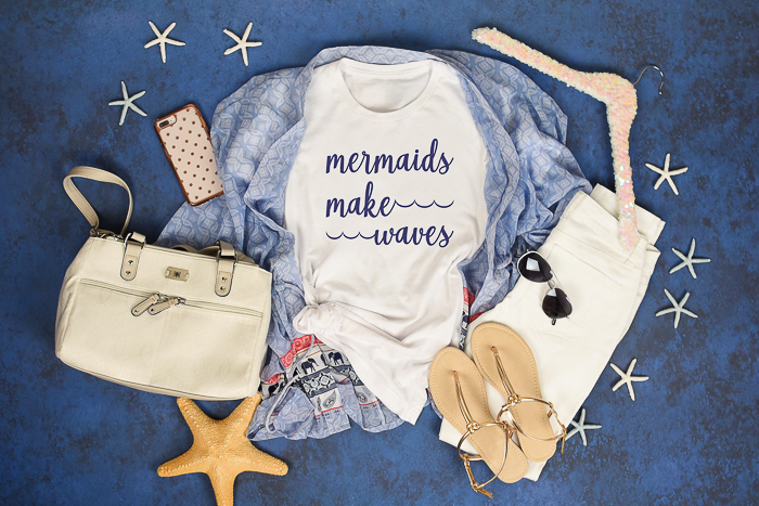mermaid svg file that says mermaids make waves on a shirt