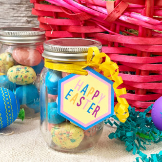 Quick Mini Easter Mason Jar Gift