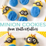 Use Nutter Butters to make minion cookies that everyone will love! A quick and easy recipe to whip up any day of the week! #cookies #recipe #minions