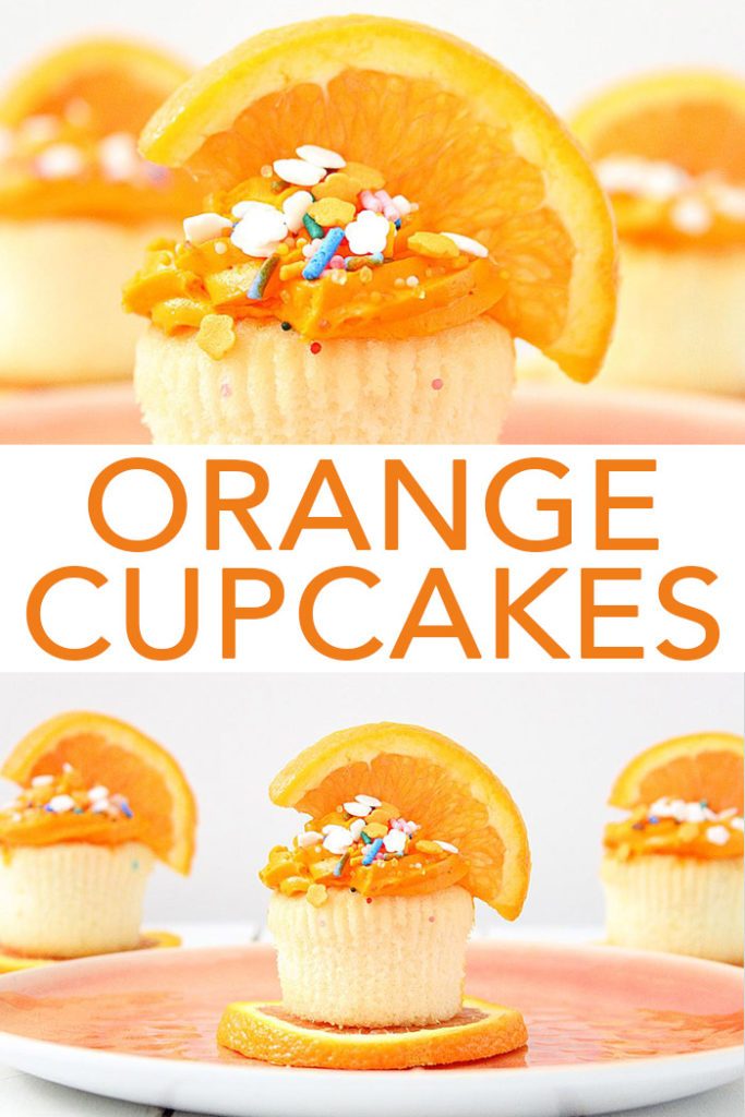 Make these orange cupcakes this summer! This easy orange cupcake recipe is perfect for all of your parties and get togethers! #cupcakes #dessert #yum