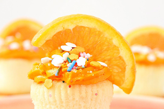 Make orange cupcakes with this delectable recipe.