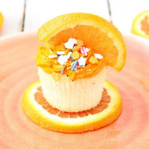 An orange cupcake recipe perfect for summer.