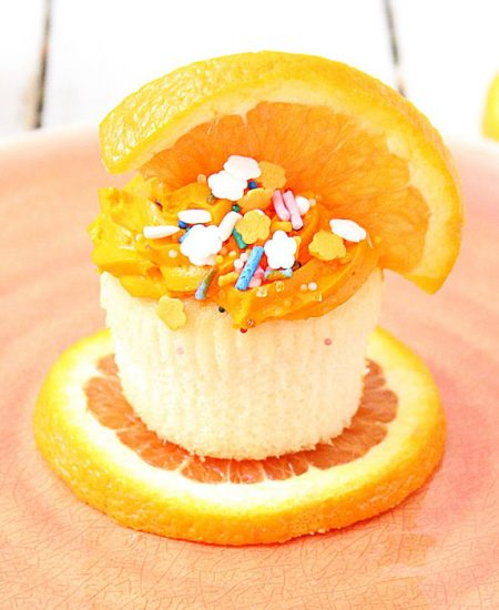 An orange cupcake recipe perfect for summer.