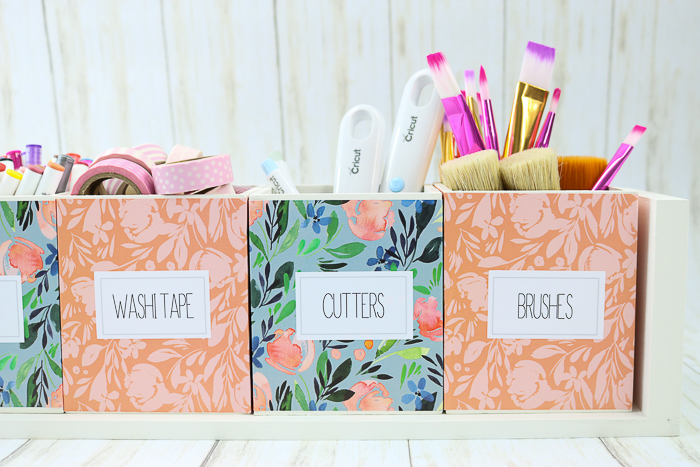 How to make a craft supply organizer with your Cricut machine.