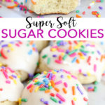 Make the best soft sugar cookie recipe! These delectable super soft sugar cookies will be a hit with the entire family! #recipe #cookies #sugarcookies #dessert