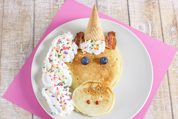 Learn how to make unicorn pancakes with this simple idea!