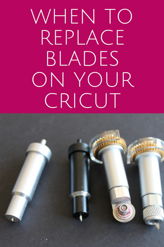 A look at when to replace blades on a Cricut machine. From the Cricut Explore Air 2 to the Cricut Maker, we are diving into all the blades and what to look for when changing them! #cricut #cricutmade #cricutmachine