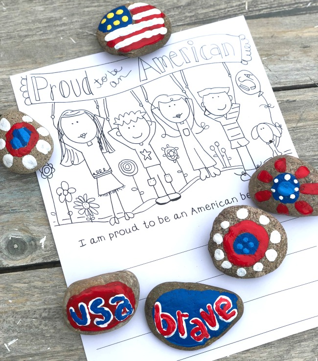 Patriotic-Painted-Rocks