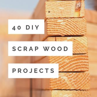 Make these DIY scrap wood projects with those small pieces leftover from your larger projects! 40 ideas to get your creativity flowing! #scrapwood #wood #rustic #diy