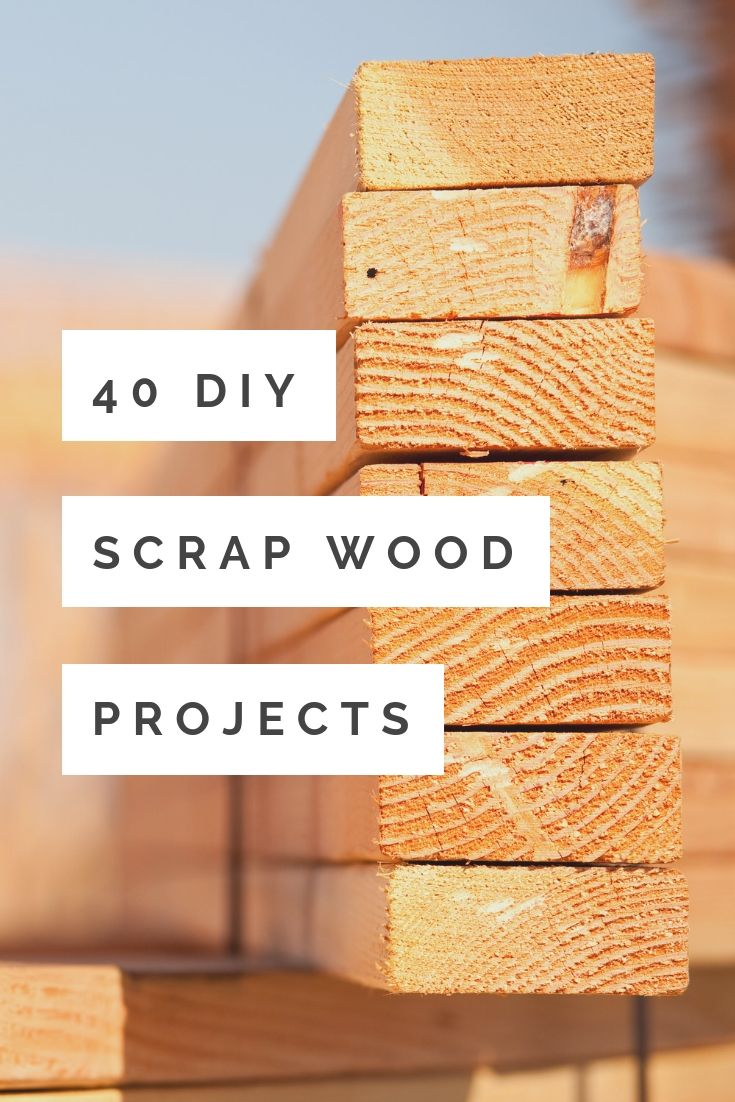 40 DIY Scrap Wood Projects You Can Make - The Country Chic ...