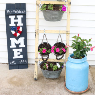 DIY Home Sign with Wreath in Minutes