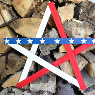 Large rustic wooden star perfect for decorating for summer outdoors
