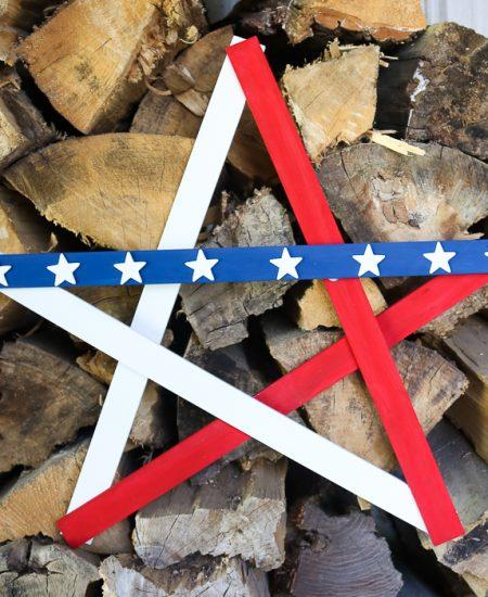 DIY Large Wooden Star for patriotic decor