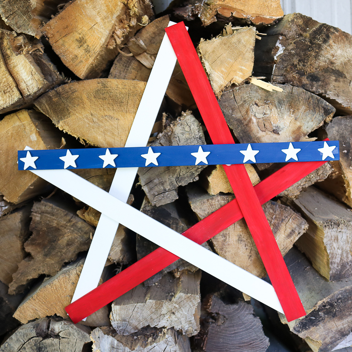 How to make a DIY patriotic wooden star for 4th of July decoration