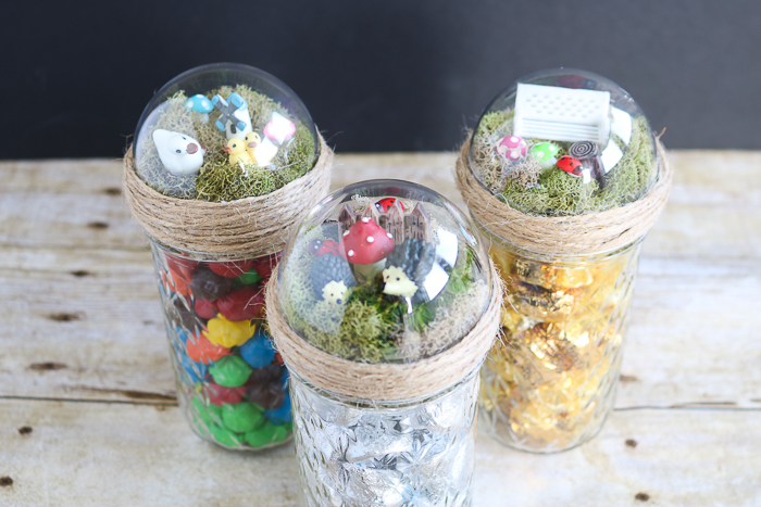 mason jar gift ideas with a fairy garden topper
