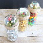 Mason Jar Gift Ideas with a Fairy Garden Top