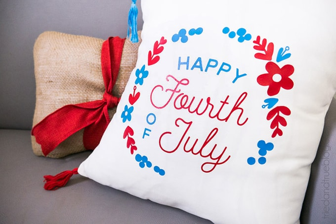 Homemade 4th of July Pillow