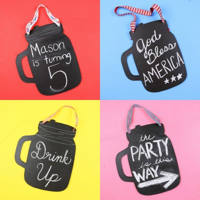 patriotic Chalkboard-Mason-Jar-DIY