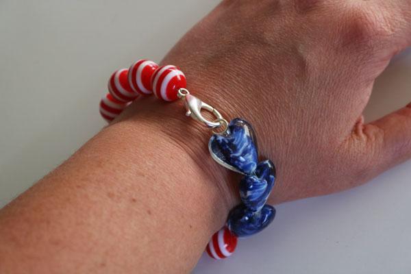 patriotic beaded bracelet