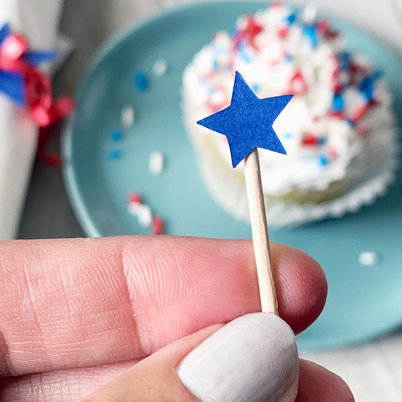 star toothpick cupcake toppers