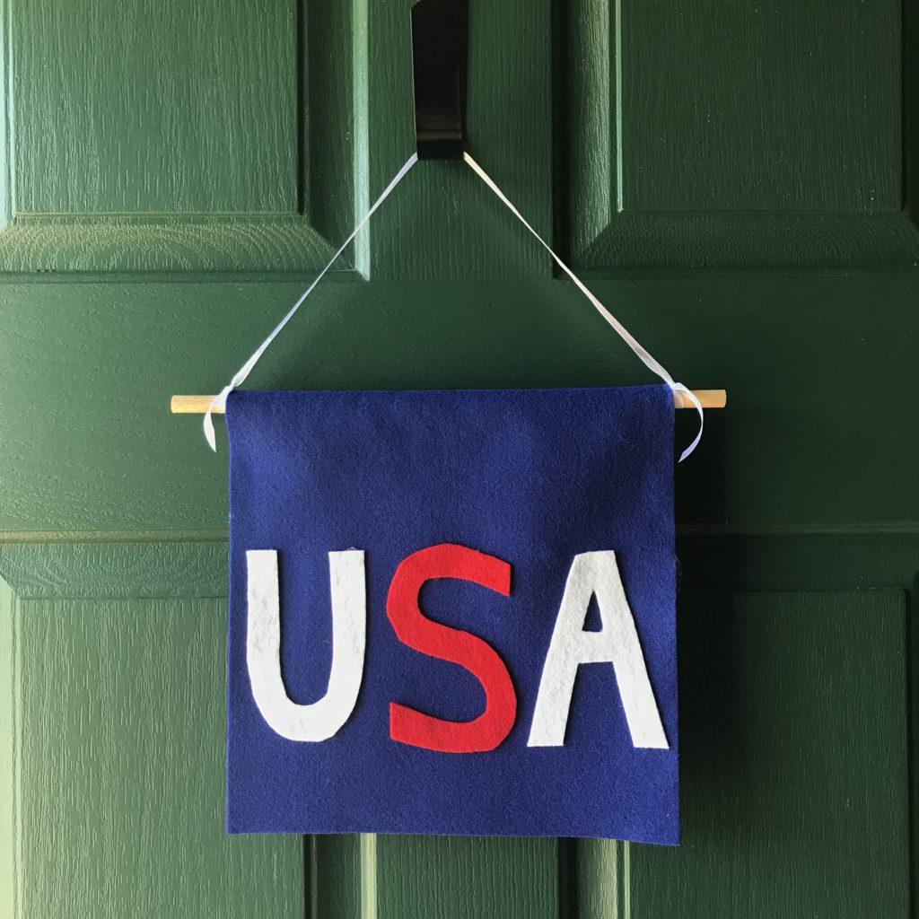 patriotic usa banner