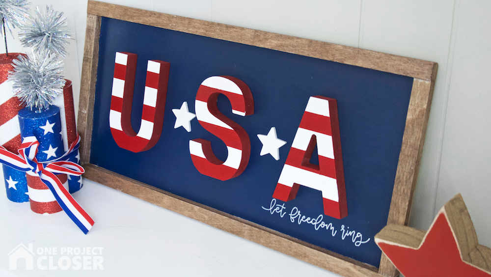 patriotic usa sign