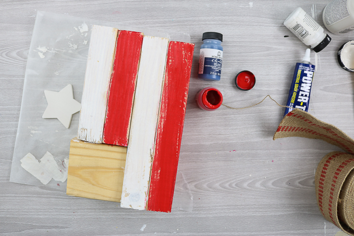 how to make a rustic american flag from scrap wood pieces
