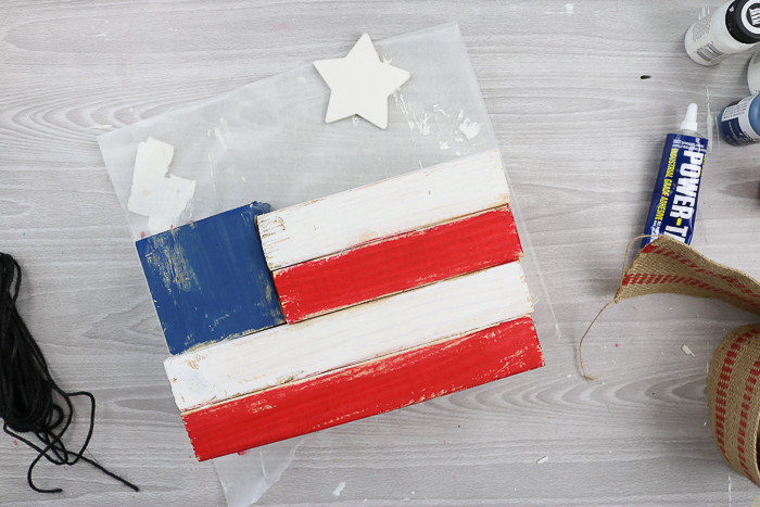 making a rustic american flag from wood