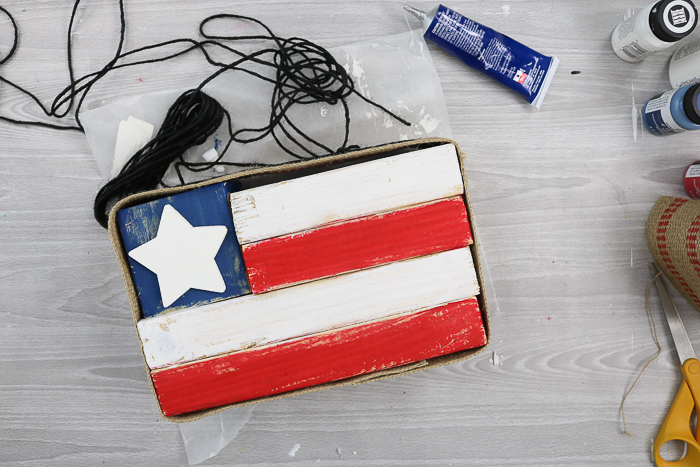 rustic wood flag DIY