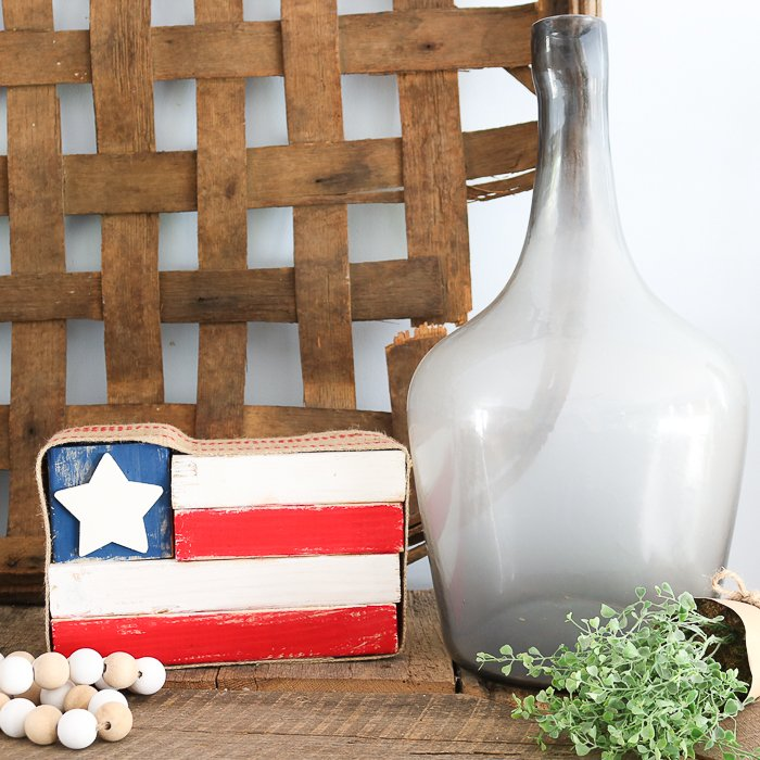 how to make a rustic wood flag from 2x4 scraps