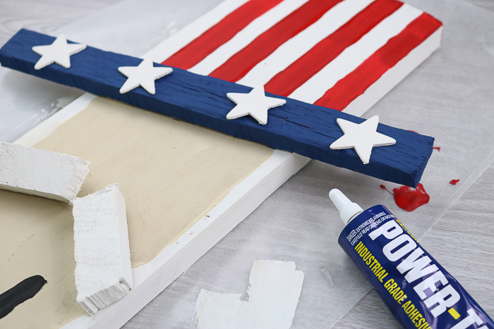 Gluing stars onto an uncle sam hat