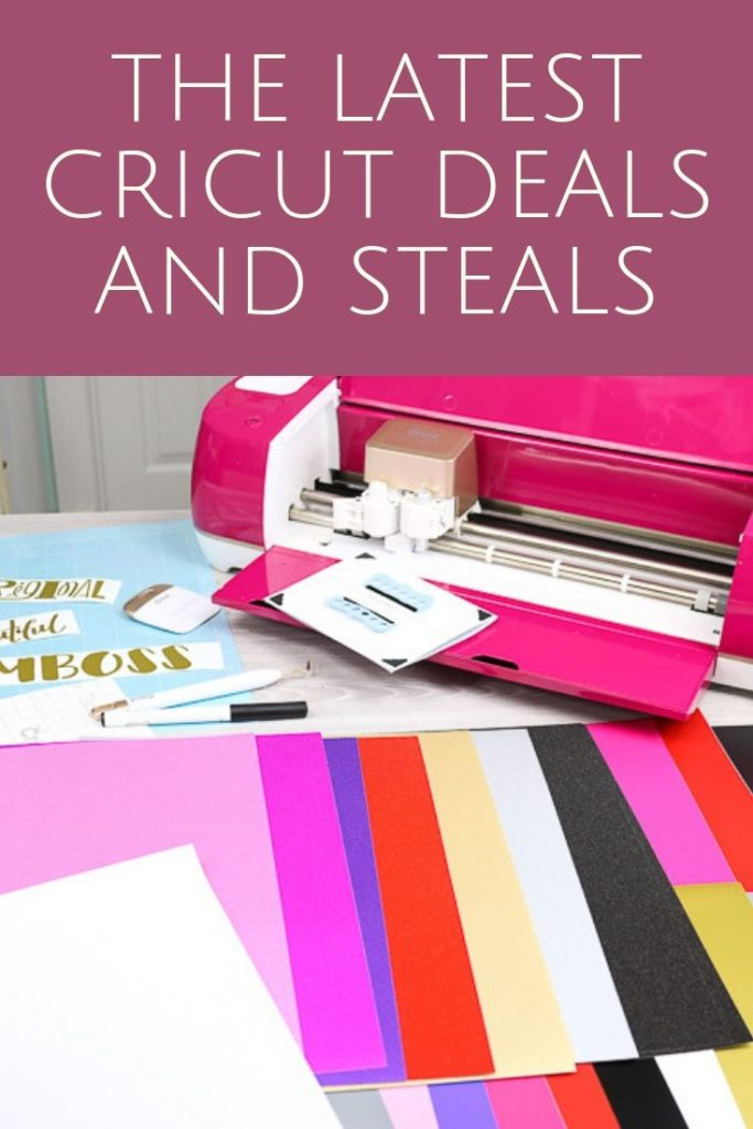 The latest Cricut deals and steal for both machine and products that you use with your machine! #cricut #cricutmade #cricutdeals #deals