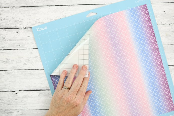 Adding infusible ink sheets from Cricut to a mat