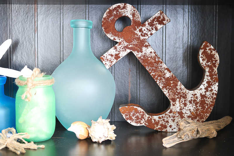 rustic anchor using faux rust paint