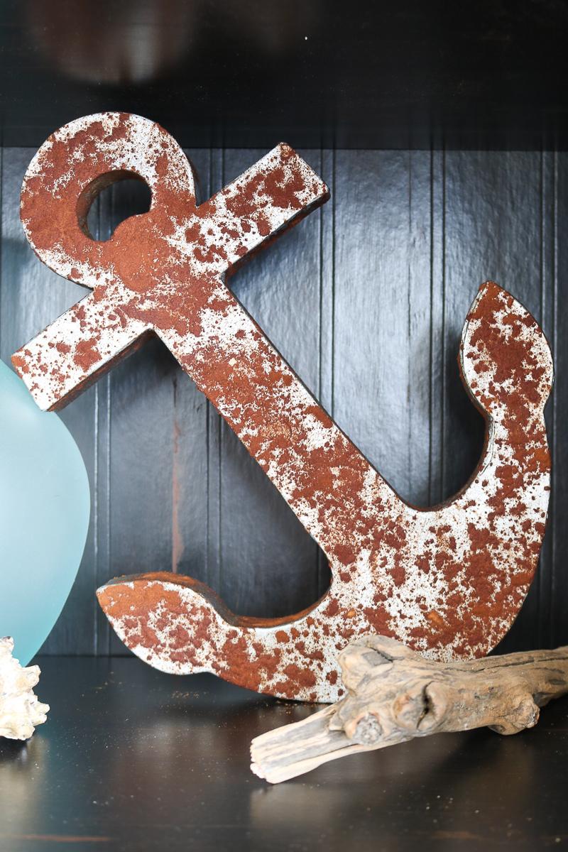 Rusty anchor from cinnamon