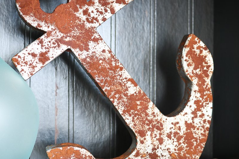 an easy way to achieve a faux rust finish