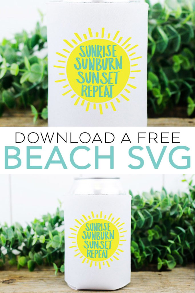 Download a free beach SVG file for your Cricut or Silhouette machine! You can also get 12 other free SVG files in this post! #svg #svgfile #freesvg #cricut #cricutmade #silhouette