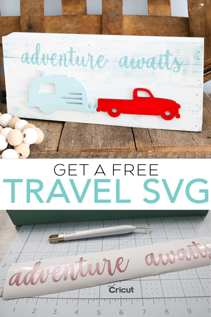 This free travel SVG file is the perfect way to celebrate summer! Use it on a fun sign of even a shirt! An easy way to show your love of hitting the road! #svg #svgfile #freesvg #cricut #cricutmade #silhouette