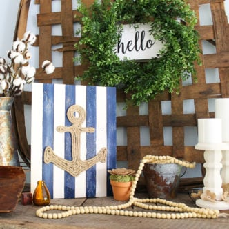 diy nautical art using rope