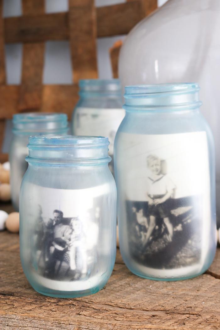 making jars with a vintage look