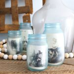 Painting Glass Jars to Look Vintage