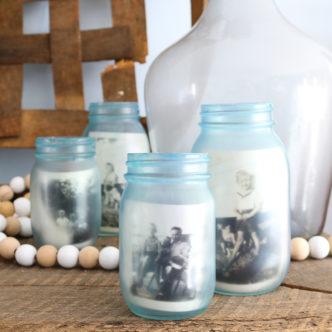 Painting Glass Jars to Look Vintage