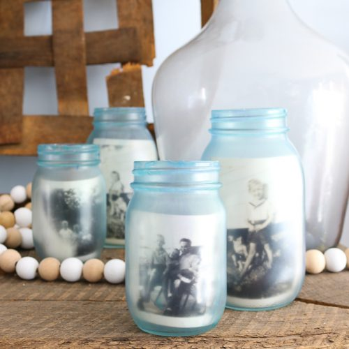 how to paint jars to look vintage